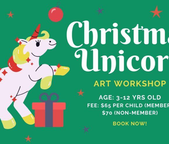 Christmas Unicorn Art Workshop